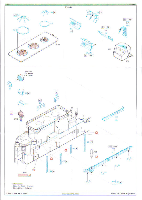 [Eduard] set photodecoupe pour HORNET trumpeter 1/350 Hornet15