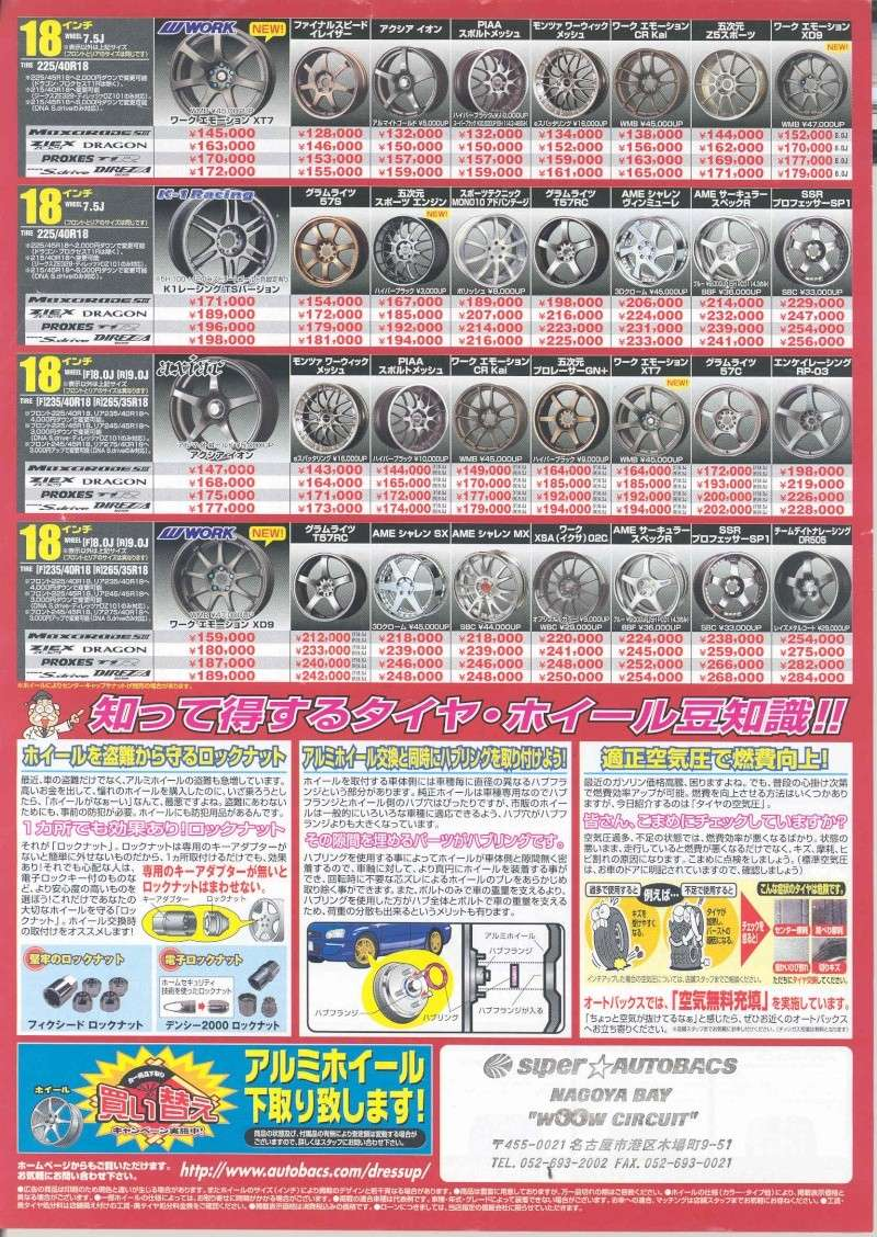 from Japan,,,AutoBacs. Product Catalog. Rimpg210
