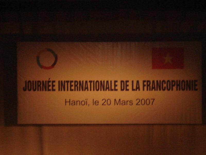 la jounee internationale de la francophonie Dsc01110