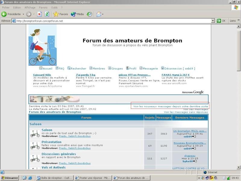 nouvelles catégories et nouvelles descriptions des forums Brom10