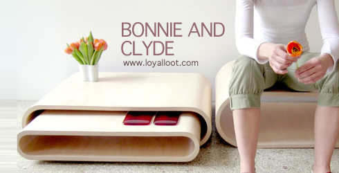 [Table basse] Bonnie and Clyde by Anna THOMAS Bandc10