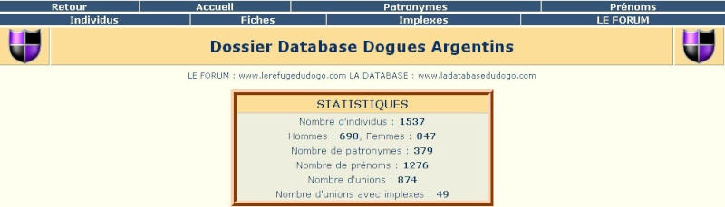Inscription de vos Dogos dans la Databse de Pedigree 111