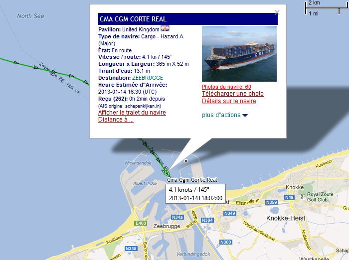 Suivi du porte-conteneurs CMA CGM CORTE REAL 14_01_20