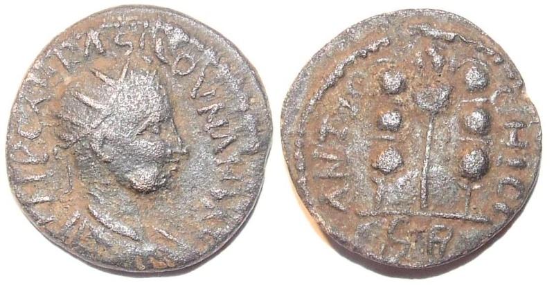 Bronzes de Valérien 1er et alexandre sévére Coloni12