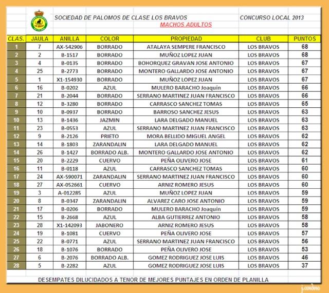 CLASIFICACIONES CONCURSO LOCAL LOS BRAVOS 2013 Macho_10
