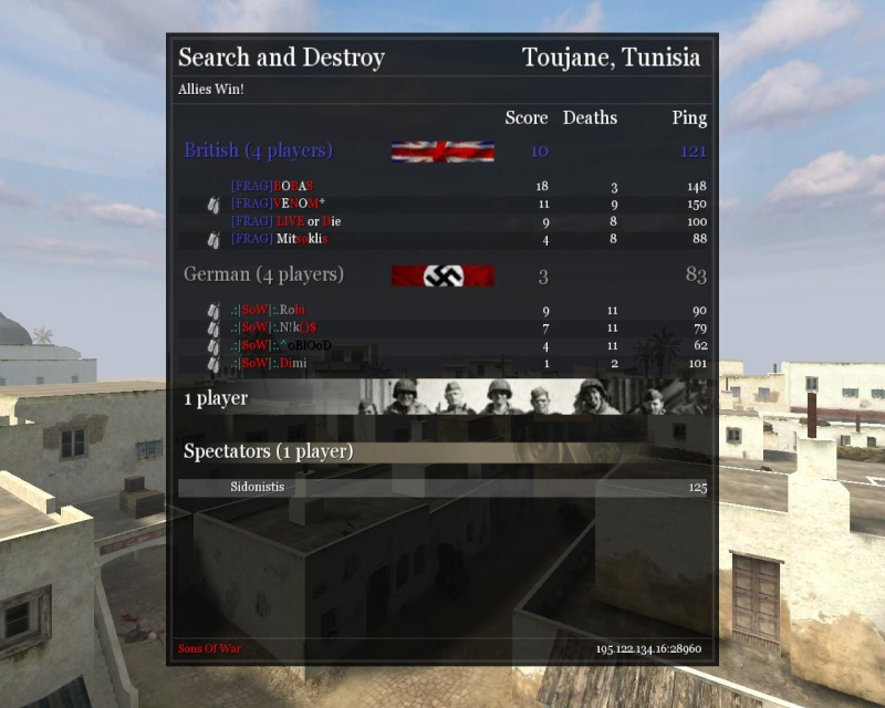 .:|SoW|:. VS [FRAG] (friendly) Lalall10