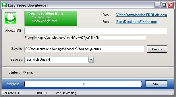 Easy Video Downloader 1.3 Easy10