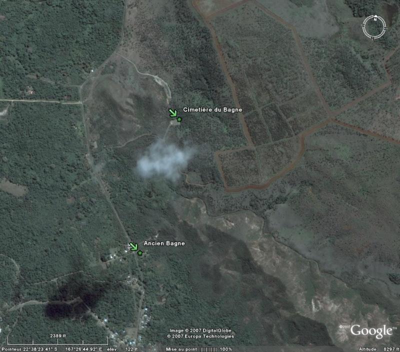 Bagnes et Camps d'internement / déportation découverts avec Google Earth Pins10
