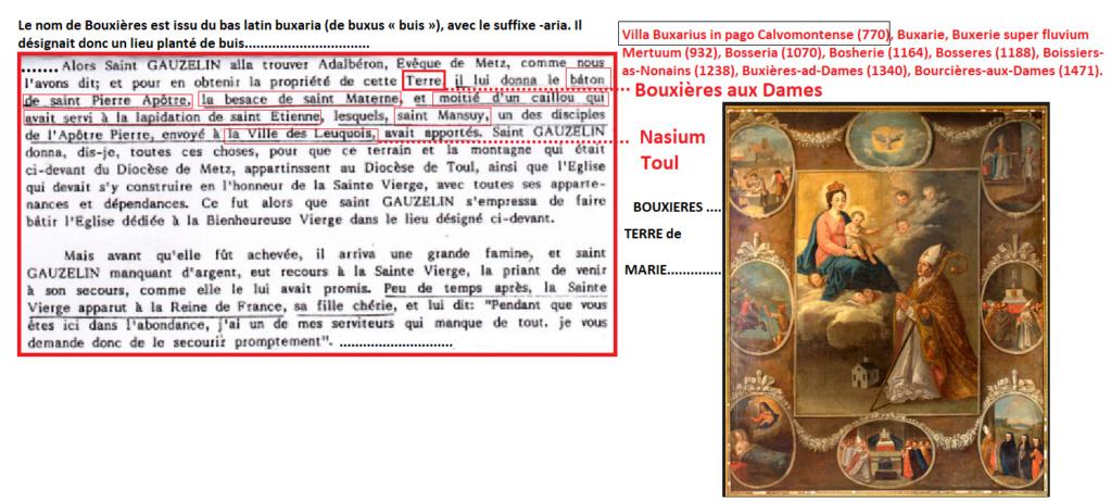 LA VIERGE MARIE A BOUXIERES AUX DAMES AU NORD DE NANCY EN LORRAINE-BERCEAU CAROLINGIENS-CAPETIENS après le FRANKENBOURG Terre_10