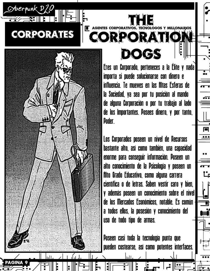 JDR: REGLAS CYBERPUNK - TIPOS DE PERSONAJE - CORPORADOS Cyberp11