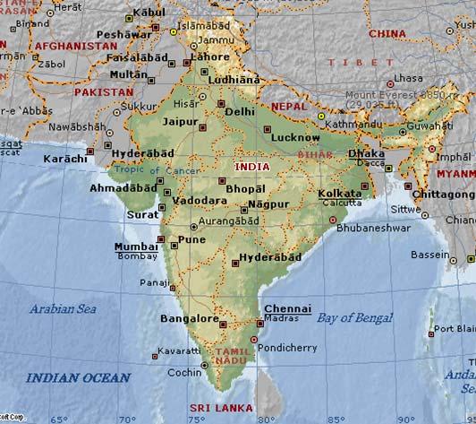 El templo de las ratas de Karni Mata - Deshnok, en la India Mapa10