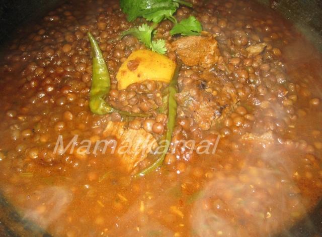 """Moroccan lentils """"La3dass"""" with beef  / Lentilles au boeuf à la marocaine 212"""