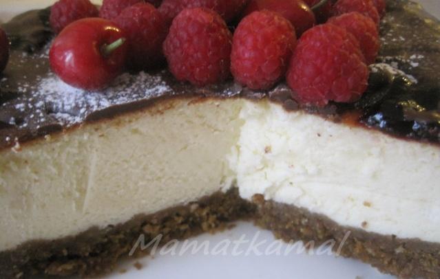 Gâteau au fromage et framboises/cerises à bas de Sellou Img_1011