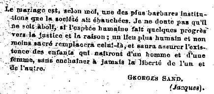 Alfred Naquet était un ami de Georges Sand Sand10
