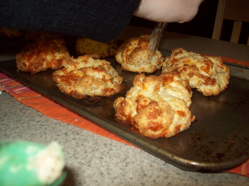 Brisket, Gravy, and Chedda biscuits 104_6012
