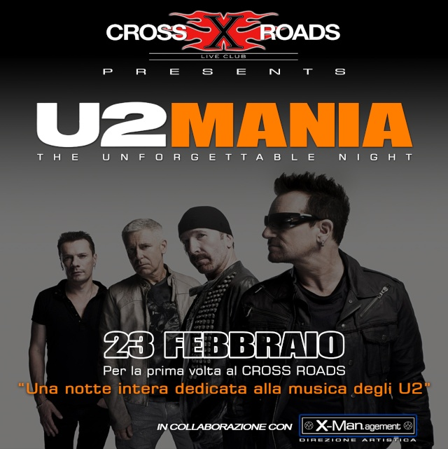 U2MANIA: a Roma una 'unforgettable night' dedicata agli U2 Crossr10