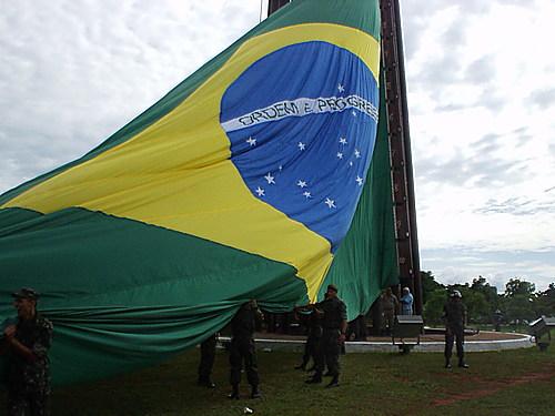 Drapeau brésilien à Brasilia au Brésil 30440810