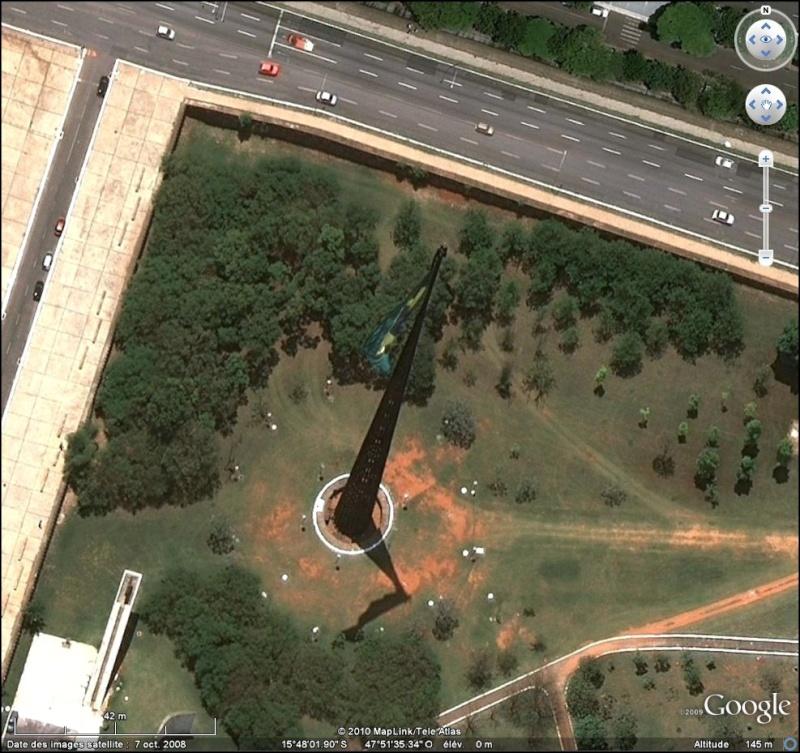 Drapeau brésilien à Brasilia au Brésil Brasil11