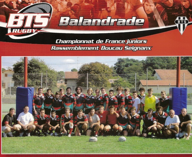 POST des Reichel B, Balandrade & Philiponeau (saison 2009/2010) Baland11