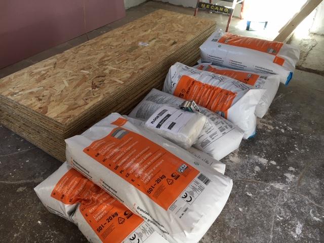 Sol de mon atelier : plancher bois sur dalle béton Matzor11