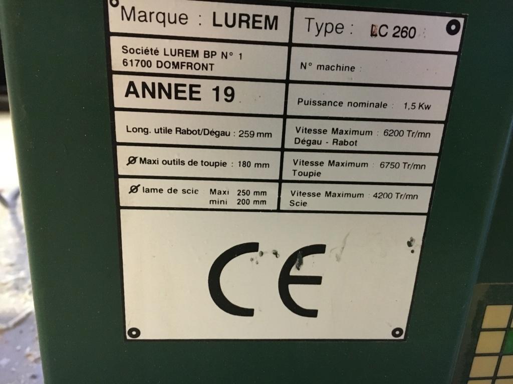 Avis et notice sur Lurem LC260 de 1997 Plaque10