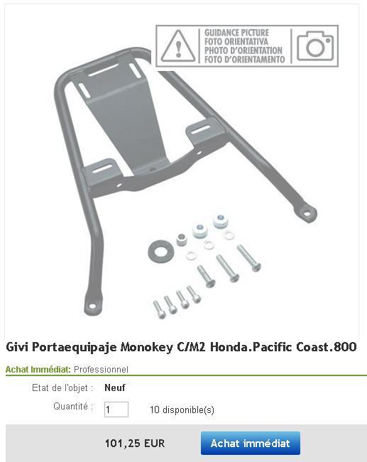Porte-baguage pour Honda Pacific Coast Suppor10