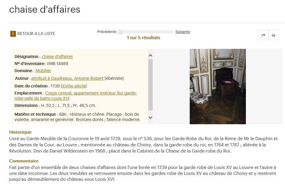 La chaise de Choisy par Gaudreaus - 1739  54123610