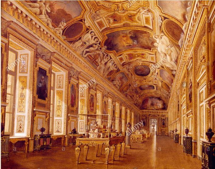 Décor de la Galerie d'Apollon au Louvre 634