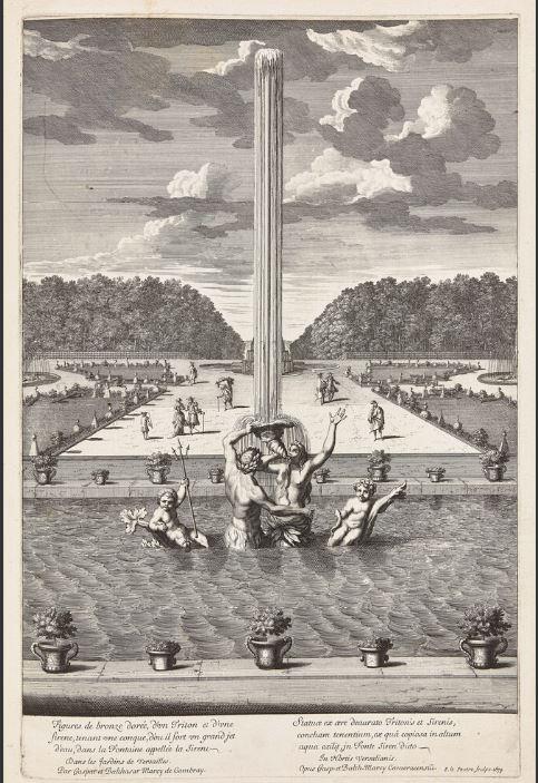 La sirène à Versailles, monstre hybride et dangereux 652