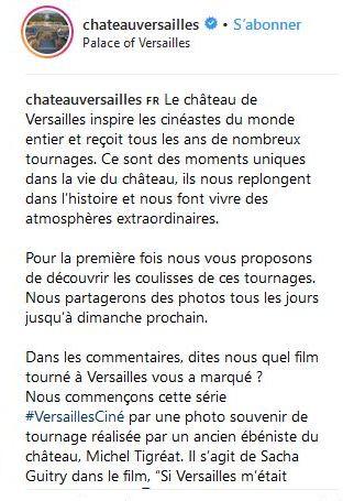 Le château de Versailles et le cinéma 7411