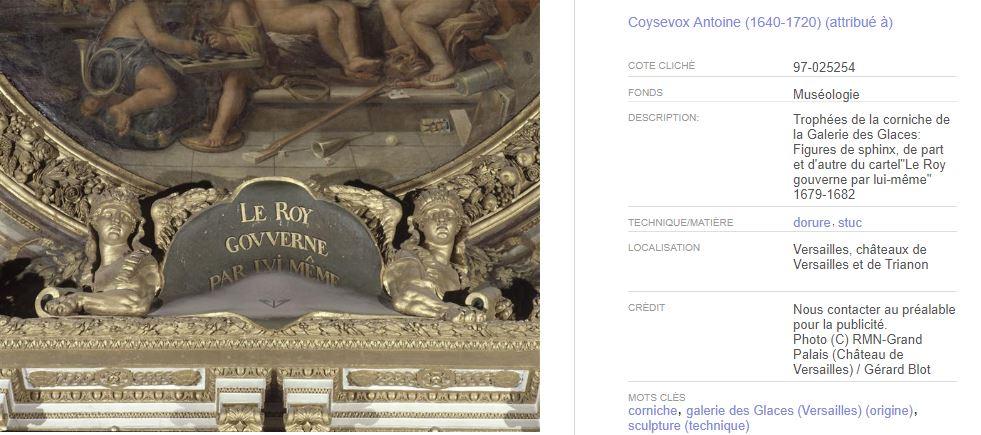 Le Sphinx ou la sphinge à Versailles Bb13