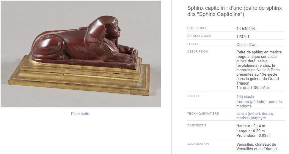 Le Sphinx ou la sphinge à Versailles C_212