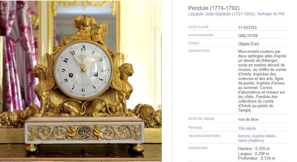 Le Sphinx ou la sphinge à Versailles H_310