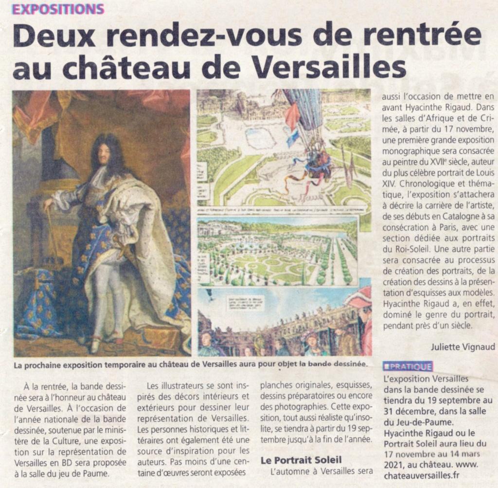 expo 2020  Versailles dans la Bande Dessinée Salle jeu paume Img20457