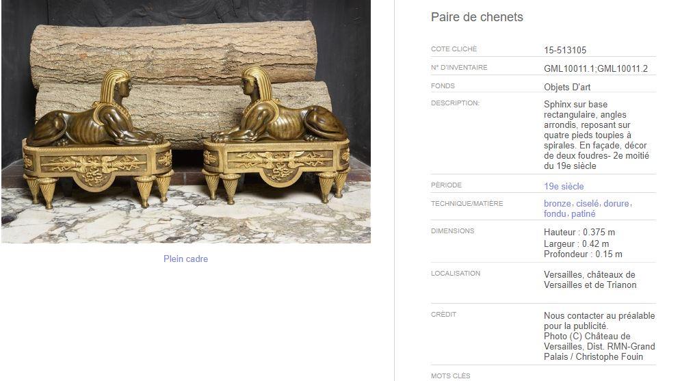 Le Sphinx ou la sphinge à Versailles J12