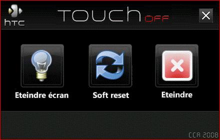TouchOff - Eteindre ou Redémarrer son HTC Screen13