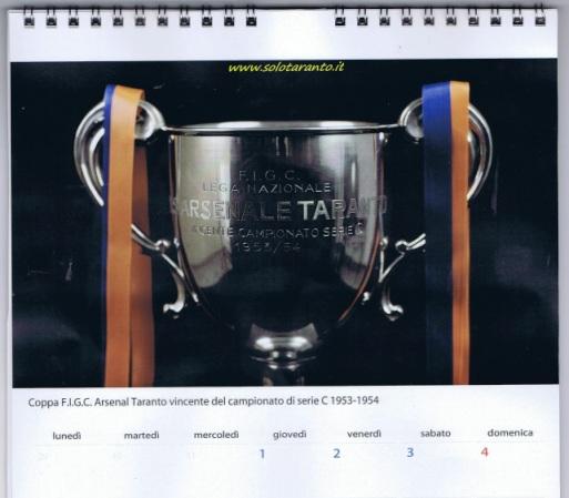"""Il Calendario 2013 """"IL MUSEO ROSSOBLU, TARANTO TI AMO""""  310"""