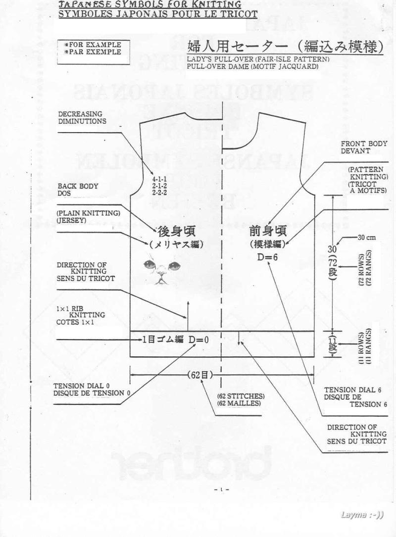 Hướng dẫn cách đọc mẫu đan Japane10