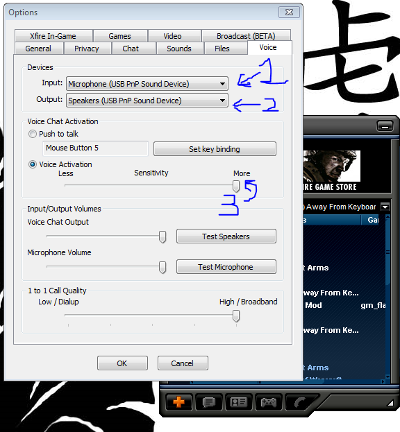 Setting up the Xfire Chat Tut10