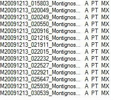 elenco TLE ripresi il 12 dicembre 2009 da Montignoso Orari_10