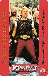 """1999 - Cartes Collectors """"Asterix et Obelix contre César"""" Asteri13"""