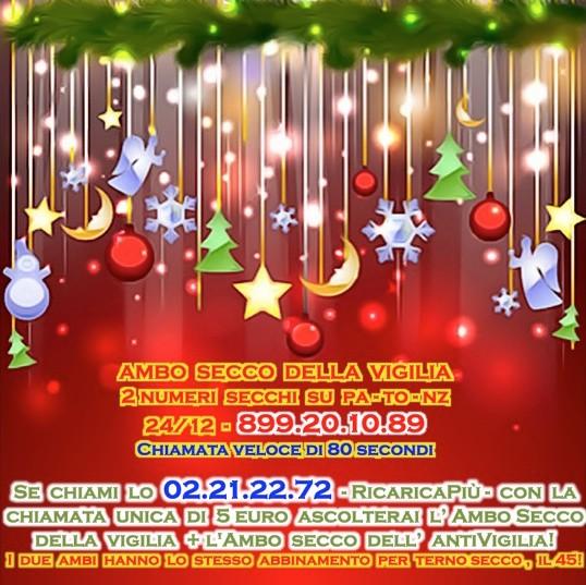 L&L Premium del 24-25-26-27/12: AMBO SECCO MILIONARIO A COLPO 5-25 SU GE! Vigi2410