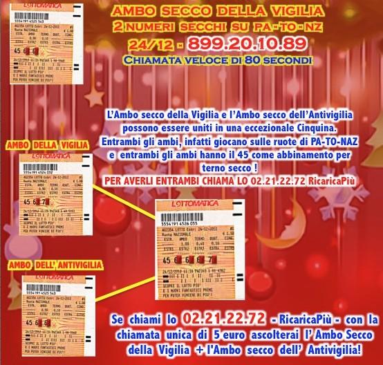 L&L Premium del 24-25-26-27/12: AMBO SECCO MILIONARIO A COLPO 5-25 SU GE! Vigico10