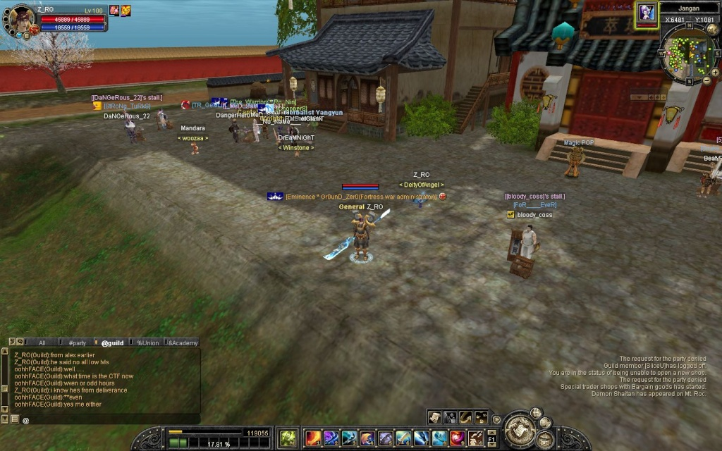 Yall check this out... and look at the difference on the guild chat and the one in sbot....and tell me what is the difference on it....... Sro20112