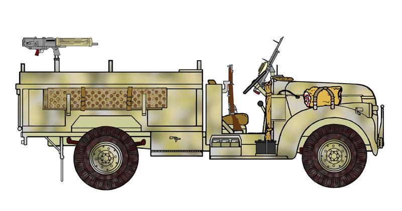 Recherche photo LRDG chevrolet ambulance 1533x210