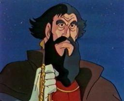 Le gouverneur Pizarro (Les mystérieuses cités d'or) Episod10