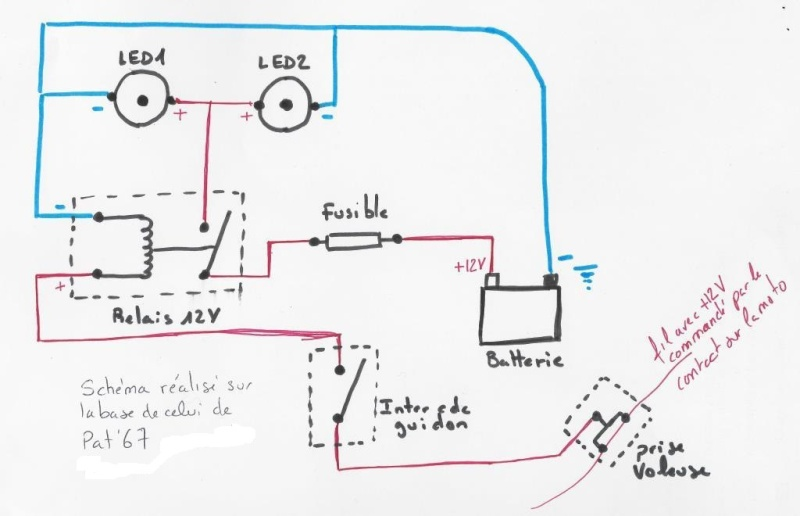 Feux additionnels sur YZF R 125.  Schema10