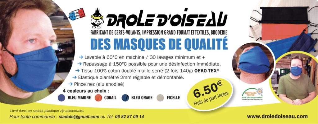 Masques en tissu lavables et réutilisables pour le déconfinement Masque10