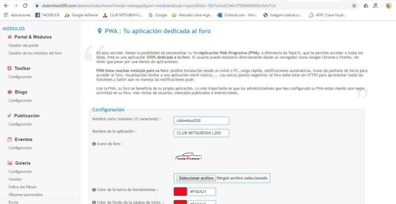 Como hago para informar a los usuarios que pueden usar la PWA de mi foro? Foro10