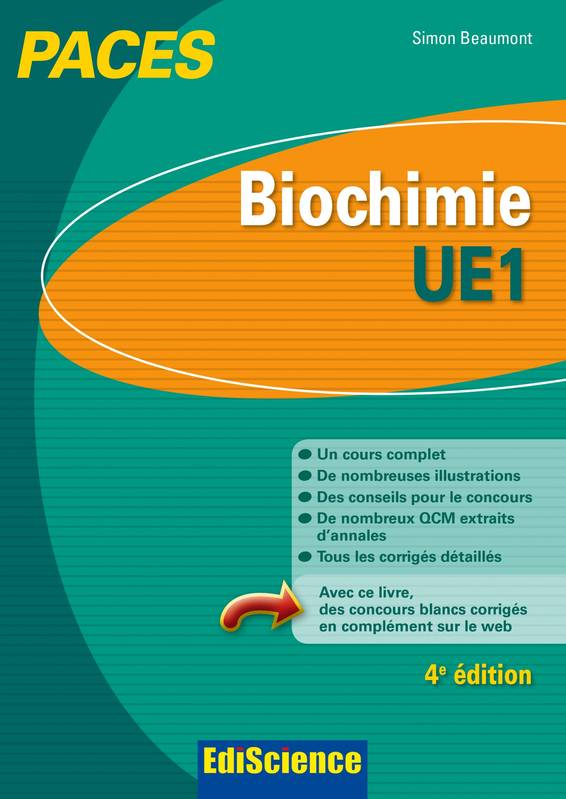[biochimie]:Biochimie ;UE1 ;paces (4e édition)  pdf gratuit  00375510